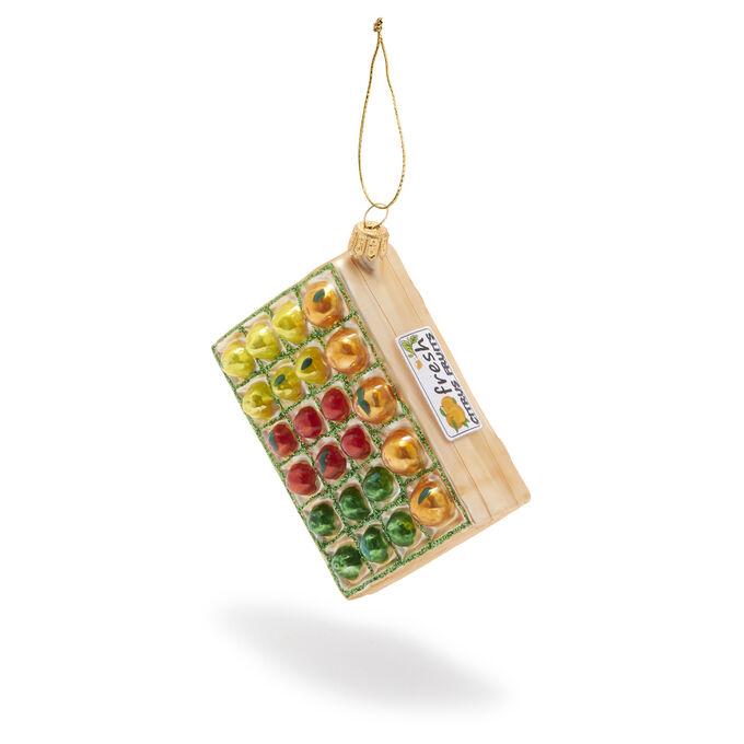 Citrus Crate Glass Ornament