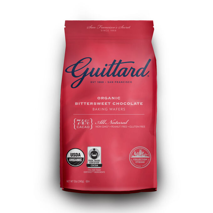 Guittard Organic Bittersweet Chocolate Baking Wafers, 74%