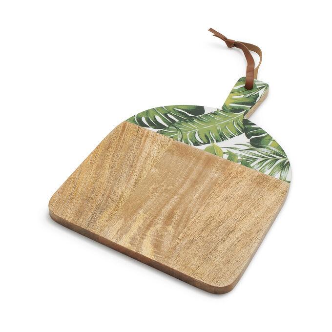 Mango Wood Palm Leaves Cheese Board