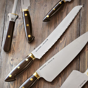 """Bob Kramer 10"""" Carbon Steel Bread Knife by Zwilling J.A. Henckels"""