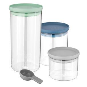 Leo 3-Piece Glass Storage Container Set