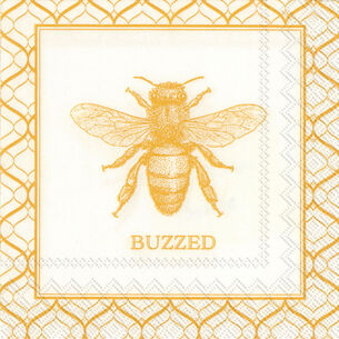 Buzzed Bee Cocktail Napkins, Set of 20