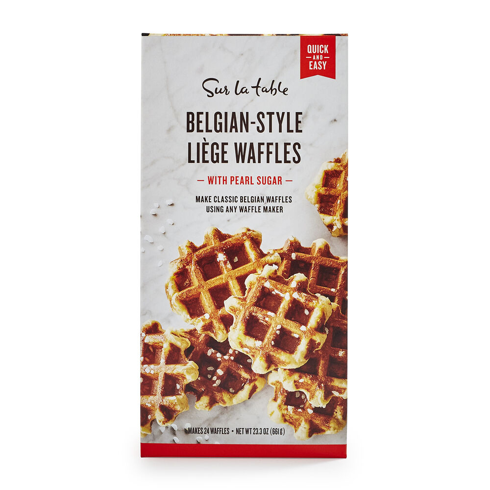 Sur La Table Belgian-Style Liége Waffles with Pearl Sugar
