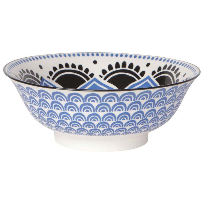 "Stamped Floral Pattern Bowl, 8"""