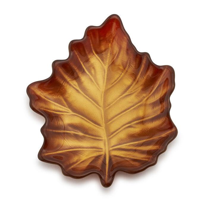 Glass Leaf Plate