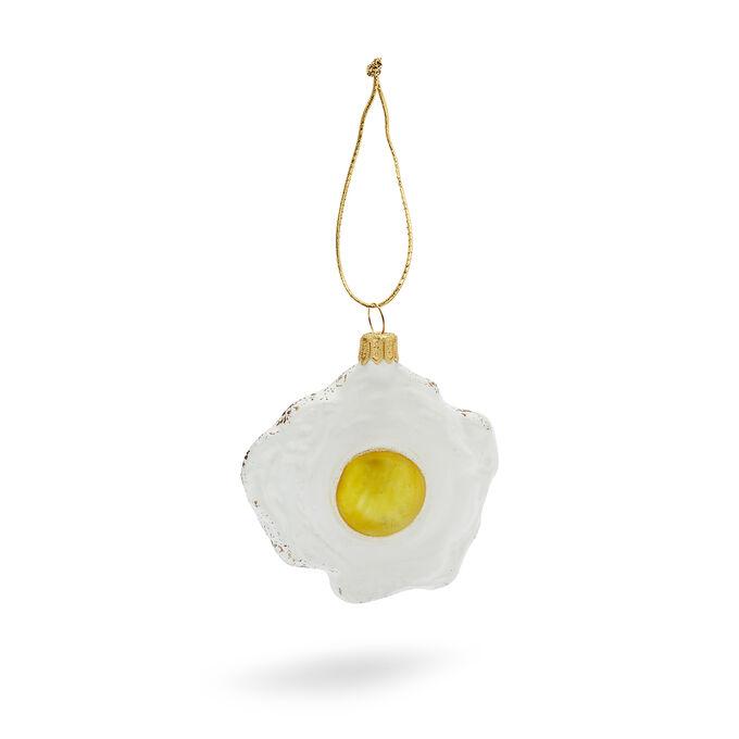 Fried Egg Glass Ornament