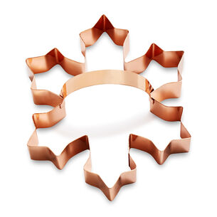 Sur La Table Copper-Plated Snowflake Cookie Cutter with Handle, 4.5""