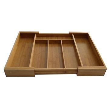 Expandable Bamboo Silverware Tray