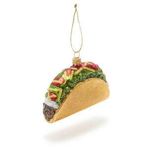 Taco Glass Ornament