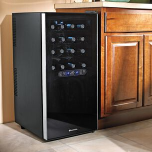 Wine Enthusiast Silent Dual-Zone Touchscreen Wine Cooler, 32 Bottle