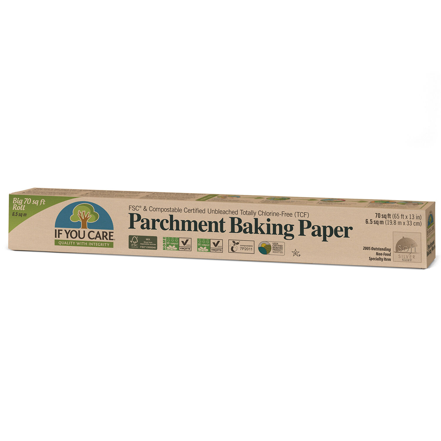 If You Care 100/% Unbleached Silicone Parchment Paper 70-Foot Roll Pack of 4