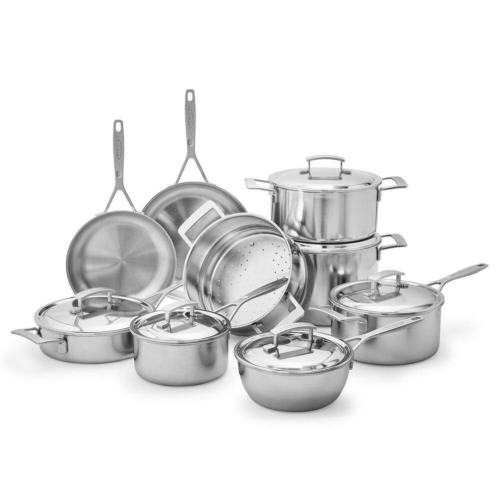 Demeyere Industry5 15-Piece Cookware Set with Thermo Lids