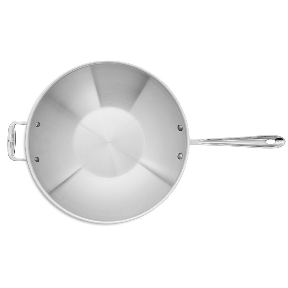 """All-Clad d3 Stainless Steel Stir-Fry Pan, 14"""""""
