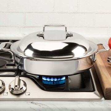All-Clad D3 Stainless Steel 50th Anniversary Casserole with Lid, 3 qt.