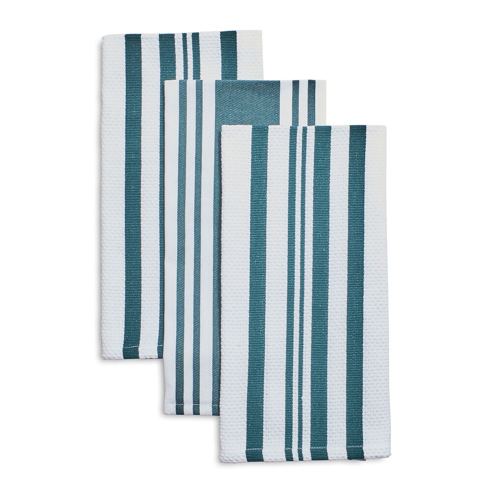 "Striped Kitchen Towels, 28"" x 20"", Set of 3"