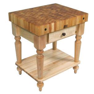 """John Boos & Co. Cucina Rustica Table With Shelf, 30"""" x 24"""""""