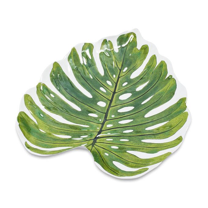 Monsterra Leaf Melamine Platter