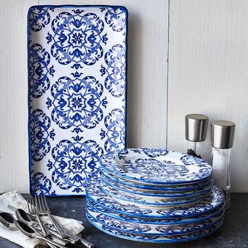 Blue Tile Dinner Plate