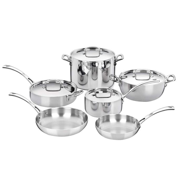 Cuisinart French Classic Stainless Steel 10-Piece Cookware Set
