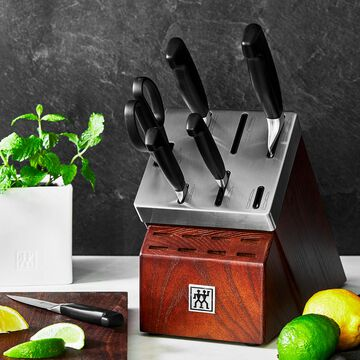 Zwilling J.A. Henckels Four Star 7-Piece Self-Sharpening Knife Block Set
