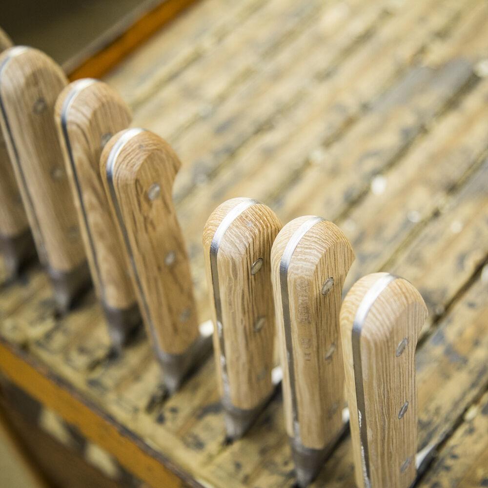 "Zwilling Pro Holm Oak Serrated Utility Knife, 5"""