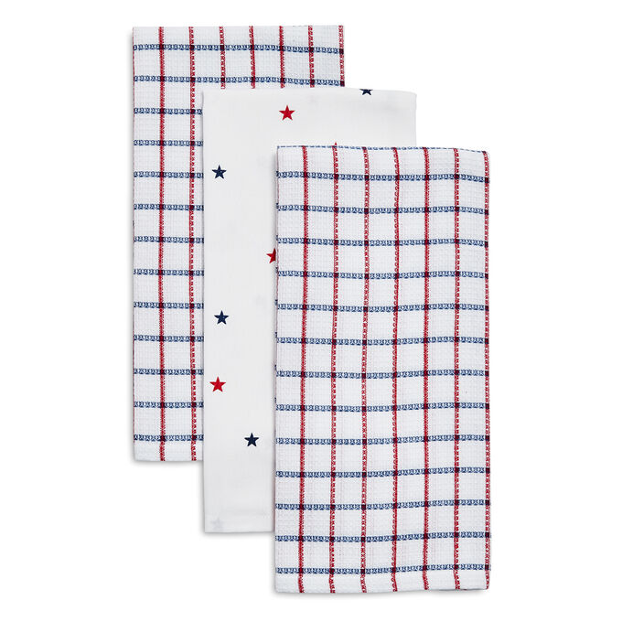 Fourth of July Kitchen Towels, Set of 3