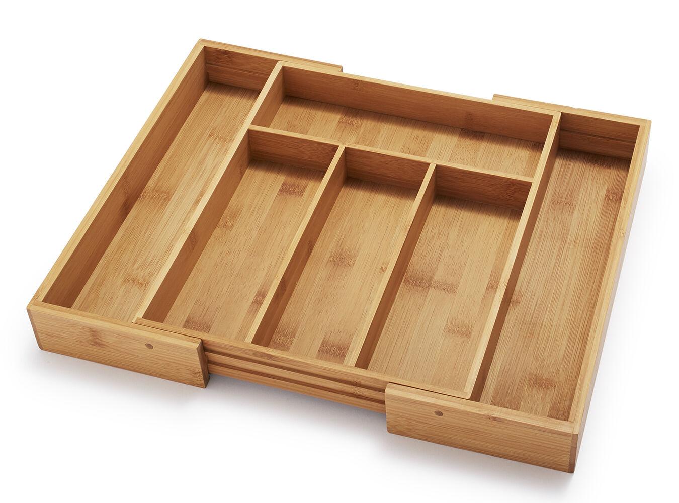 Expandable Bamboo Silverware Tray   Sur La Table