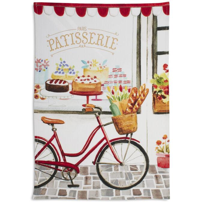 "Vélo Patisserie Kitchen Towel, 28"" x 18"""