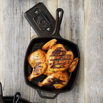 Lodge Square Grill Skillet, 10½""
