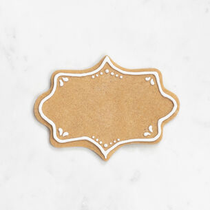 """Copper-Plated Fancy Plaque Cookie Cutter with Handle, 4"""""""