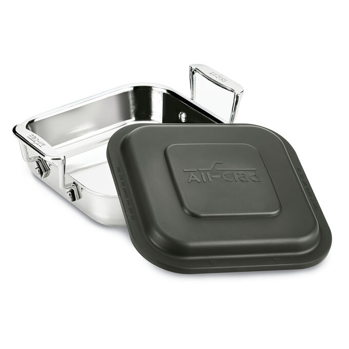 """All-Clad Square Baker with Lid, 8"""""""