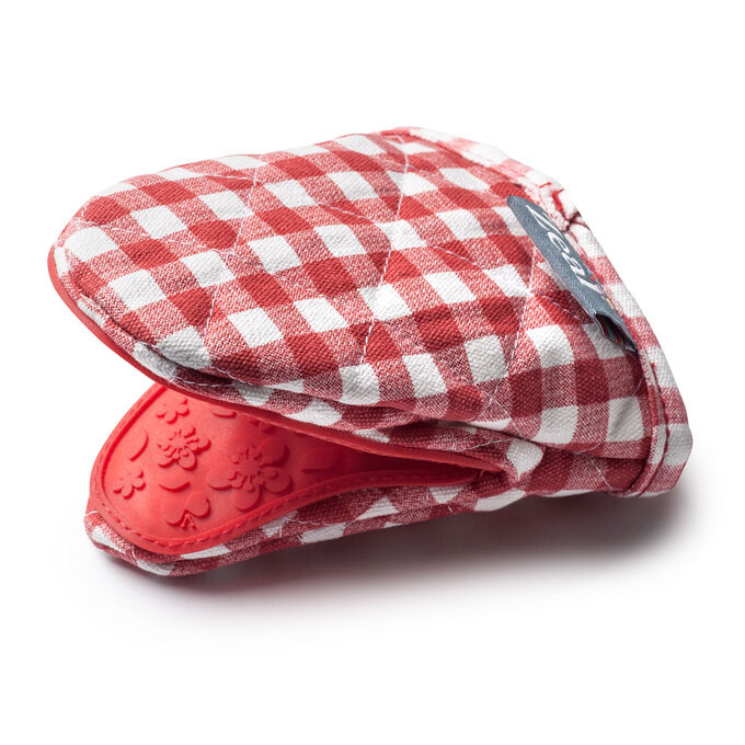 Mini Red Gingham Mitt