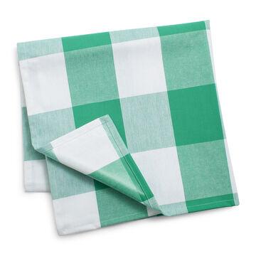 "Green Check Blanket, 60"" x 60"""