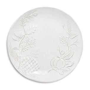 White Pumpkin Embossed Salad Plate