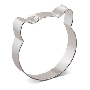 Cat Face Cookie Cutter, 3.5""