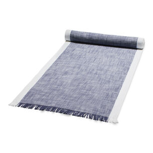"Blue Chalk Table Runner, 108"" x 16"""