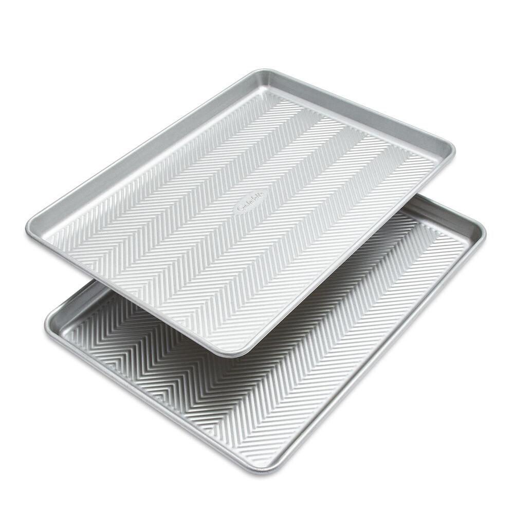 Sur La Table Silver Classic Half Sheet Pan, Set of 2