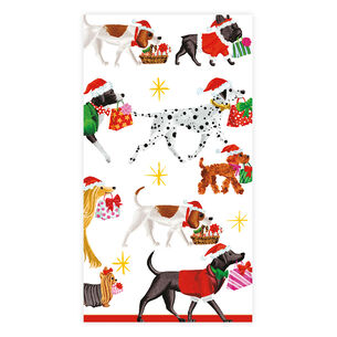 Christmas Delivery Dogs Guest Napkins, Set of 15