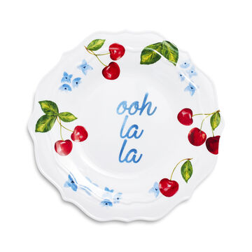 Pique-Nique Melamine Appetizer Plates, Set of 4