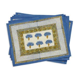 Couleur Nature Bluet Blue Cloth Placemats, Set of 6