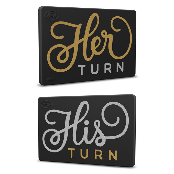 Flipside His Turn/Her Turn Reversible Magnet