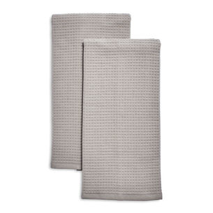 Gray Waffled Kitchen Towels, Set of 2