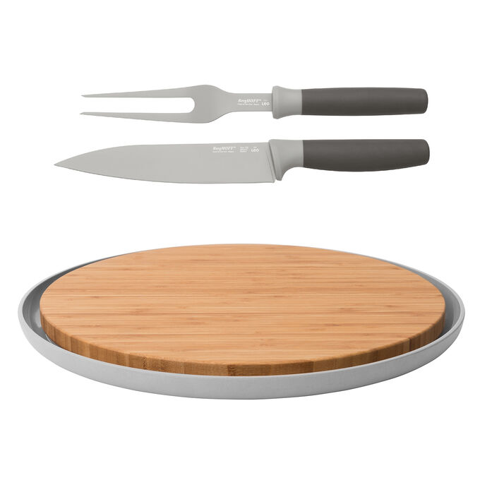 Leo Carving Utensils and Cutting Board, Set of 4