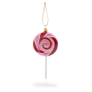 Lollipop Glass Ornament