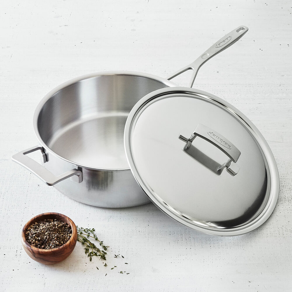 Demeyere Industry5 Sauté Pans with Thermo Lid, 6.5 qt.