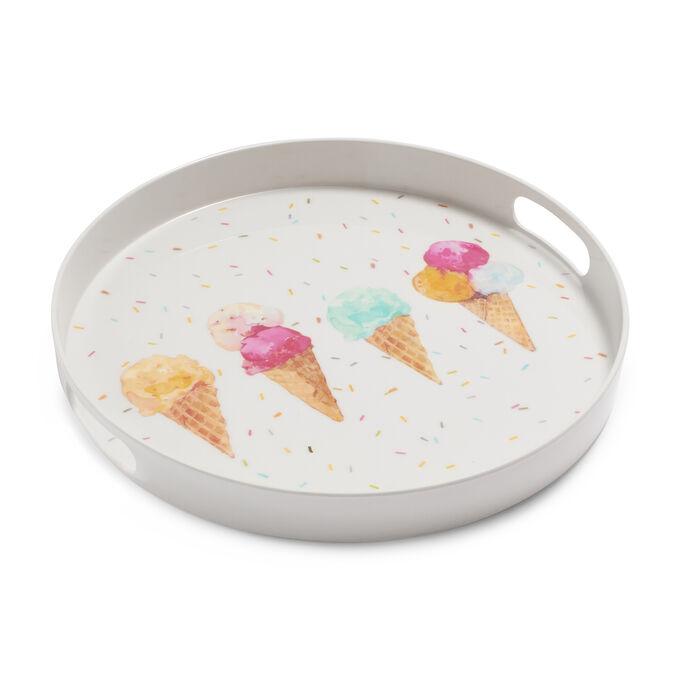 """Ice Cream Round Tray, 14"""""""