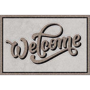Welcome Vinyl Floor Mat