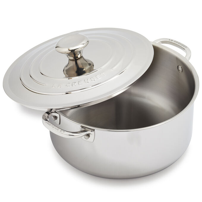 Le Creuset Stainless Steel Shallow Casserole, 5.5 qt.