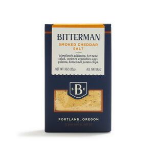 Bitterman Smoked Cheddar Salt, 3 oz.