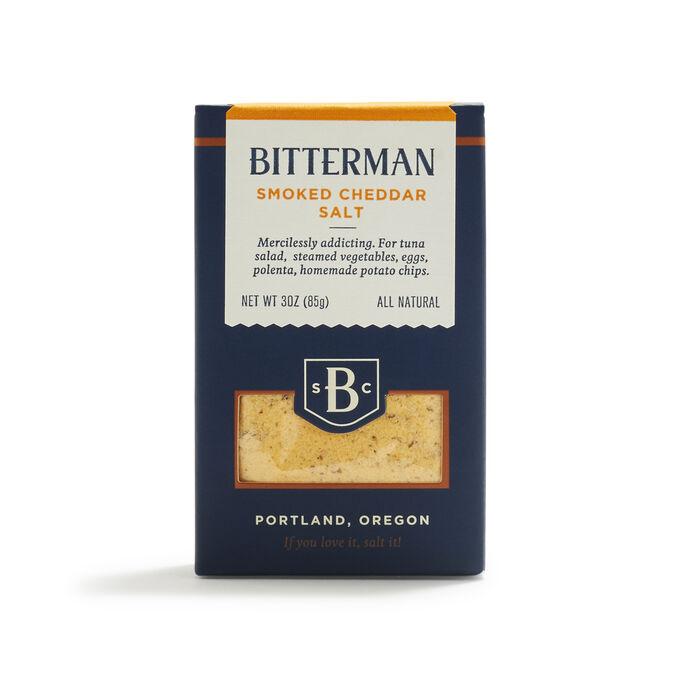 Bitterman Smoked Cheddar Salt, 3 oz.
